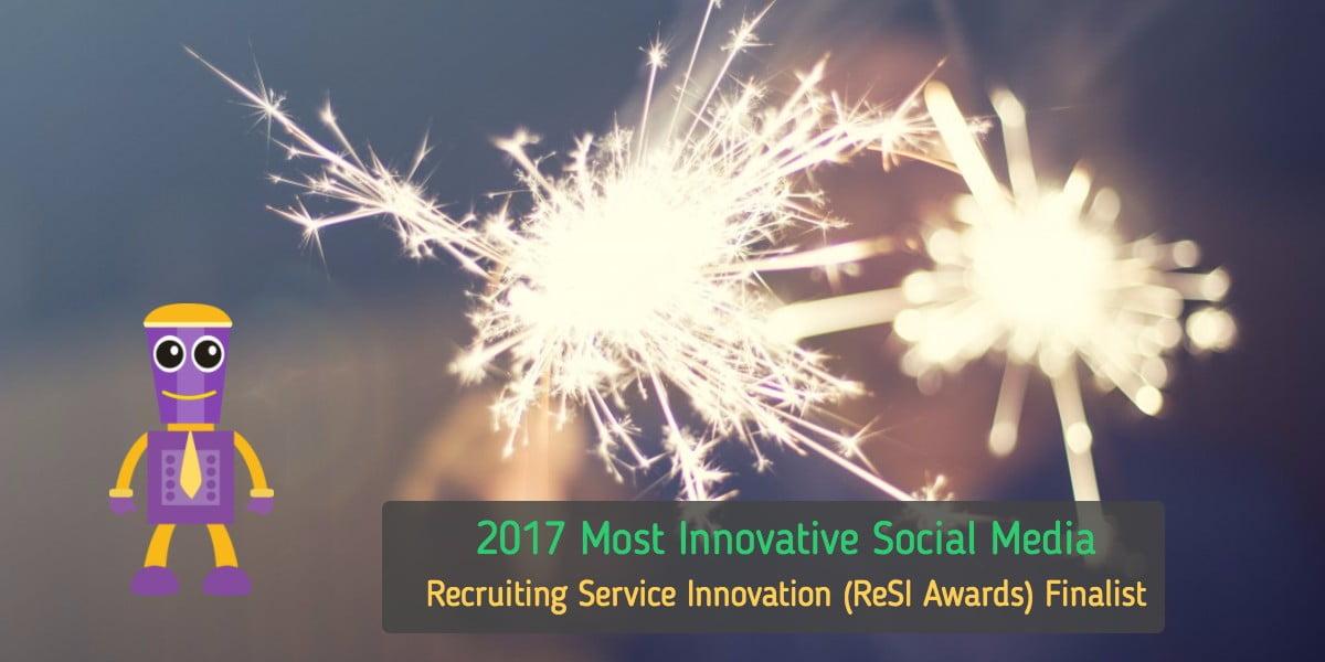 "GoBe- The Virtual Recruiting Chatbot named 2017 ""Most Innovative Social Media Solution"" Award Finalist"
