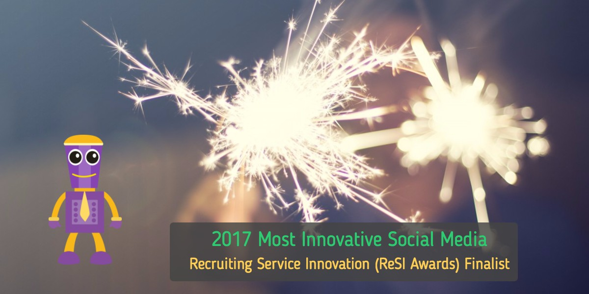 "GoBe- The Virtual Recruiting Chatbot named 2017 ""Most Innovative Social Media Solution"" Award Finalist"