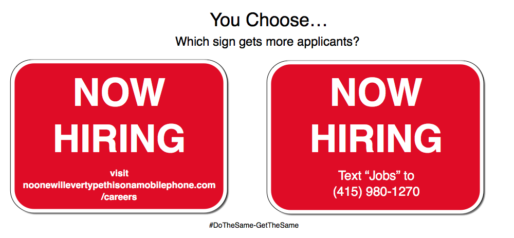 Now Hiring Signs that work